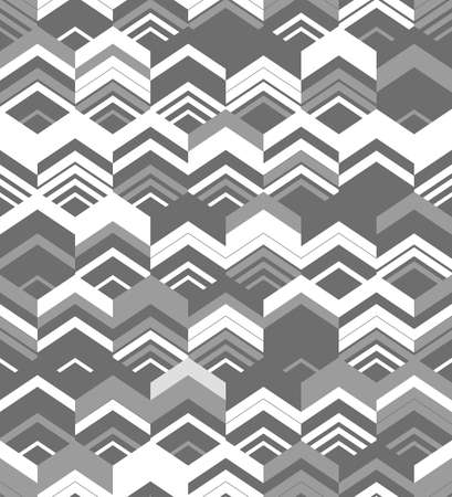 Abstract seamless geometric pattern. Optical illusion of motion.
