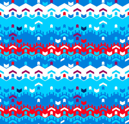 Abstract seamless geometric pattern. Optical illusion of motion. Texture of simple shapes.