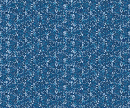 Seamless pattern with curls and spirals. Pattern for packing and textiles. Floral motifs. Illustration