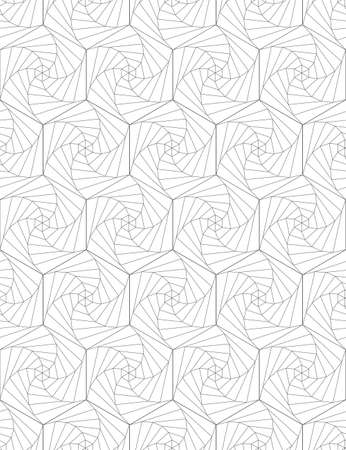 Abstract seamless pattern of hexagons. Optical illusion of rotation. Reklamní fotografie - 103406087
