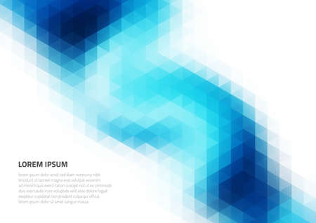 Abstract background with geometric texture. Distortion of space. Shades of blue. Backgrounds for presentations and printing.
