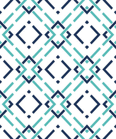 Seamless pattern with many intersecting lines and corners. Chain of geometric shapes Ilustração