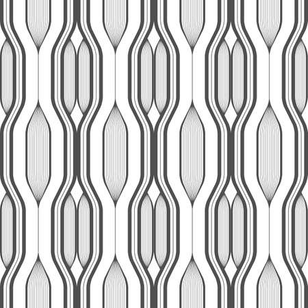 Abstract vector seamless pattern with lines. Background in high tech style. Monochrome colors. Ilustração