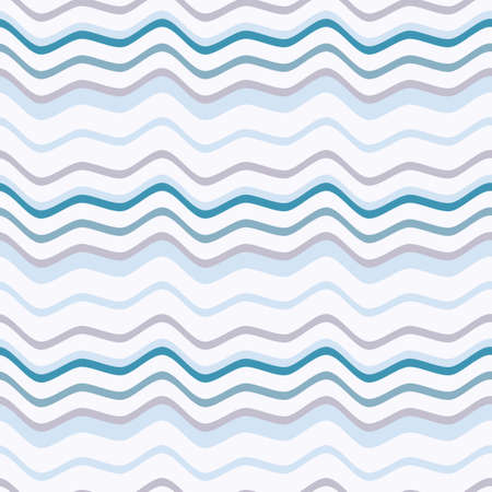 Seamless pattern with waves and bends. Surface oscillation. Simple pattern for fabrics and wrappers. Optical illusion of the motion of geometric shapes.