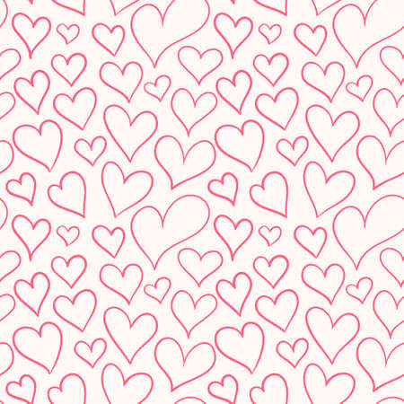 Seamless pattern with hearts of different sizes. A pattern for expressing feelings. Design for fabric and gift wrapping.