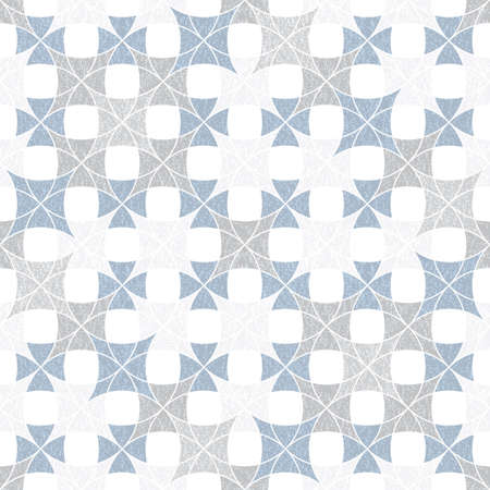 Abstract seamless pattern of superimposed geometric shapes. Rounded forms flow into each other. Imitation of the texture of warm tissue. Pattern for fabrics and wallpaper.
