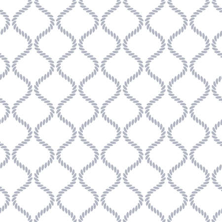 Seamless pattern with wavy forms. Curved threads and ropes. Optical illusion of motion. Pattern for fabrics and packaging. Stock Photo
