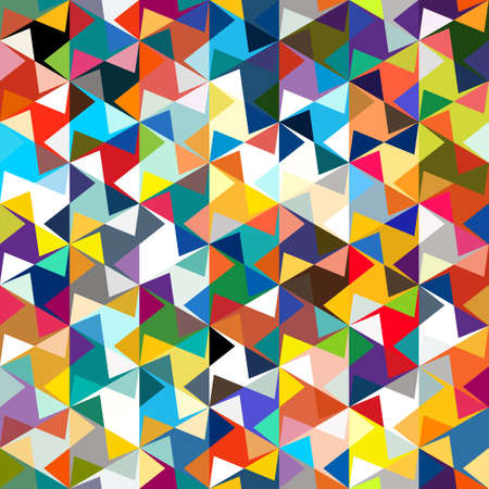 Abstract seamless pattern of corners and triangles. Optical illusion of movement. Bright youth pattern.  イラスト・ベクター素材