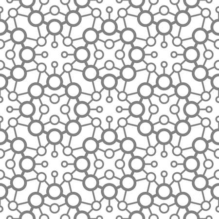Abstract seamless pattern of circles and wavy lines. The combination of various forms. Illusztráció