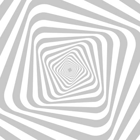 Abstract hypnotic background for your design. Optical illusion of movement of space distortion. Monochrome image.