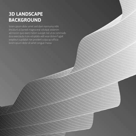 Abstrakte 3D-Grafiken. Virtuelle Realität und optische Täuschungen. Vektorgrafik