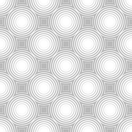 Circles seamless pattern. Ordered shapes create a hypnotic effect. Pulsation of geometric shapes. Ilustrace
