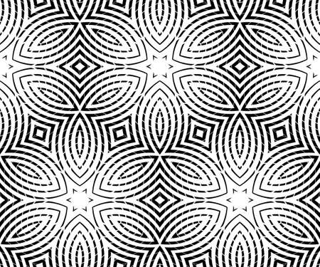 Abstract hypnotic pattern from stripes. Waves and swirls of geometric shapes.