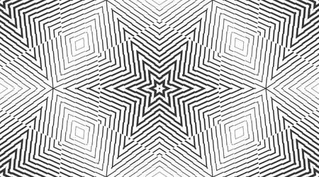 Vector seamless pattern with hexagonal structure. Symmetric dash texture. Stock Illustratie