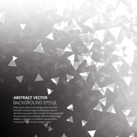 Abstract background from many triangles. Dance of geometric shapes. Ilustração