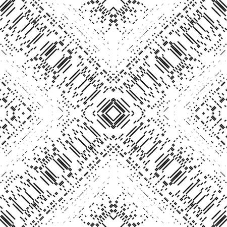 Abstract pattern of stripes and strokes. Optical illusion of the movement of geometric shapes.