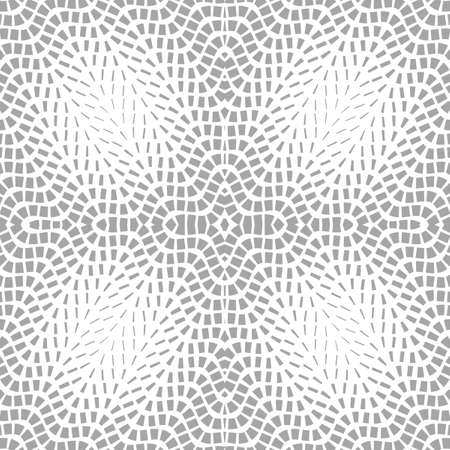 Abstract seamless pattern. Optical illusion of the movement of geometric shapes. 일러스트