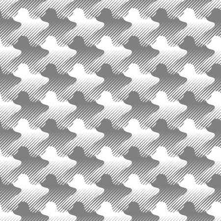 Optical illusion of volume and movement of geometric shapes. Abstract seamless pattern. Illustration