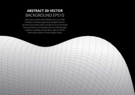 Abstract geometric background. Optical illusion of the material surface. Illustration