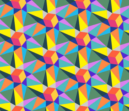 Abstract geometric seamless pattern. Optical illusion of the movement of figures. Ilustrace