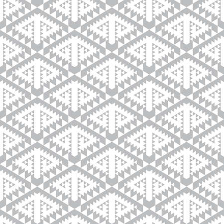 Optical illusion of volume. Geometric shapes in a diamond-shaped grid.