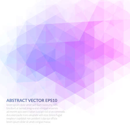 Abstract background with a triangular texture. Delicate and bright colors. Ilustrace