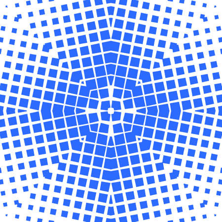 Simple seamless pattern with geometric texture. Optical illusion of the transition of forms among themselves.
