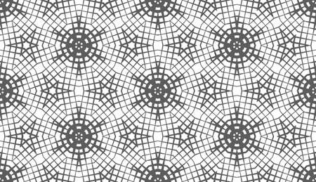 Abstract seamless pattern of geometric shapes. Stars in a hexagonal grid.
