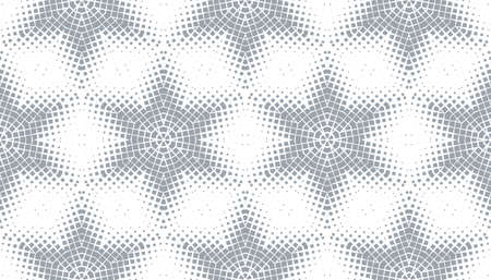 Abstract seamless pattern of geometric shapes. Stars in a hexagonal grid. 版權商用圖片 - 134808612
