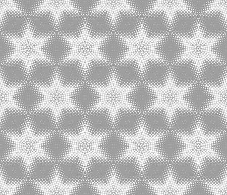 Abstract seamless pattern of geometric shapes. Stars in a hexagonal grid. 版權商用圖片 - 134808613