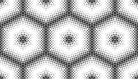 Abstract seamless pattern of geometric shapes. Stars in a hexagonal grid. 版權商用圖片 - 134808614