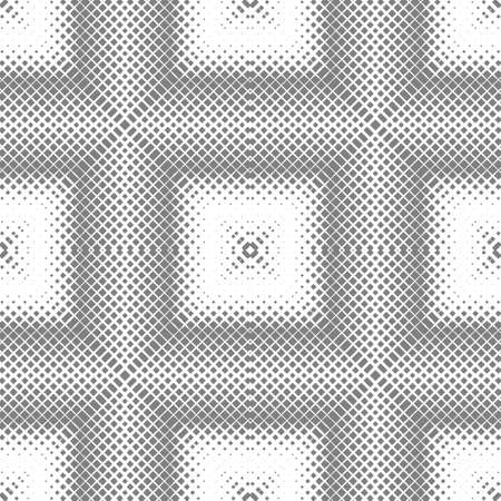 Abstract square grid seamless pattern. Optical illusion of the volume of space. Geometric texture.