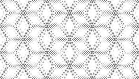 Abstract seamless pattern of geometric shapes. Stars in a hexagonal grid. Optical illusion of the volume of space. Pattern for design textile and packaging. Stock vector illustration. Ilustrace