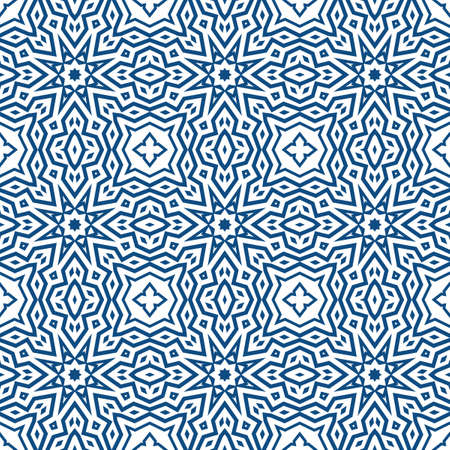 Abstract seamless geometric pattern. Some forms smoothly transform into other forms. Kaleidoscope of lines and angles.