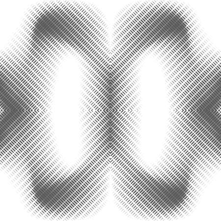 Abstract seamless geometric pattern. Optical illusion of particles.