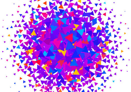Abstract background with bright texture from triangles. Geometric pattern for a bright cheerful mood.  イラスト・ベクター素材