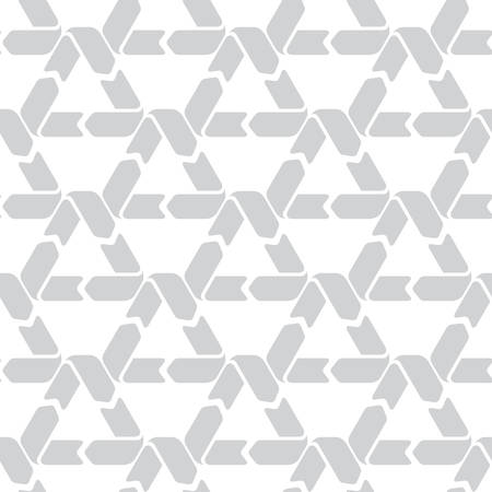 Seamless pattern with recycling signs on a white background. Pattern for recyclable materials and packaging.