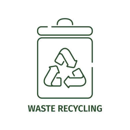 Garbage recycling icon on a white background. Vektorgrafik