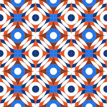 Bright abstract seamless pattern of geometric shapes. Pattern for fabrics and business design.
