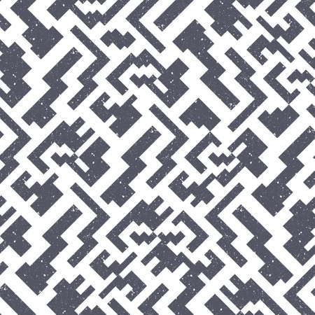Abstract seamless pattern of simple blocks. The geometric texture stylized as a stone.
