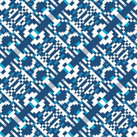 Abstract seamless pattern of geometric shapes. Pattern for your design of clothes, home textiles or wallpapers. Stock vector illustration.