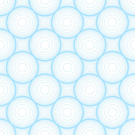 Abstract concentric circles seamless pattern. Optical illusion of image volume. Stock vector illustration. Ilustração
