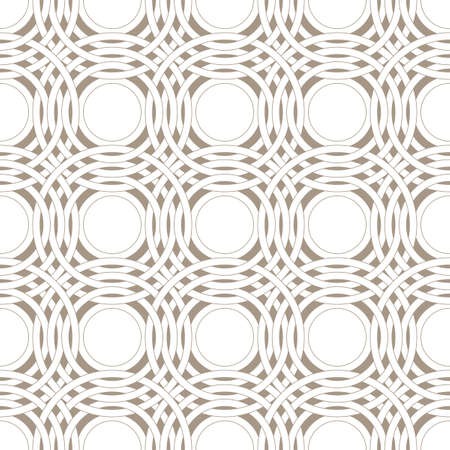 Abstract intersecting rings seamless pattern. Pattern for home textiles and clothes. Ilustração