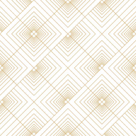 Abstract seamless pattern of lines and squares. Diagonal upward movement. Geometric pattern in line art style.