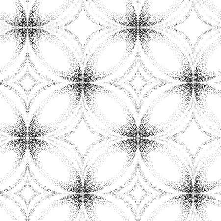 Abstract seamless pattern of outpoints. Optical illusion of volume.