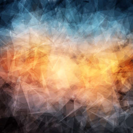 Abstract background with geometric texture. Light passing through a lot of glass shards.
