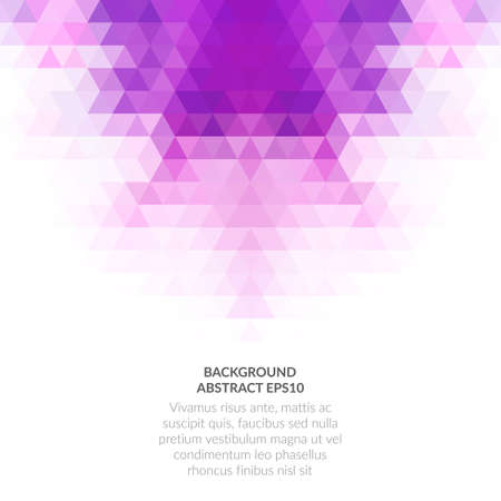 An abstract background with a geometric texture of triangles. White copy space for text.