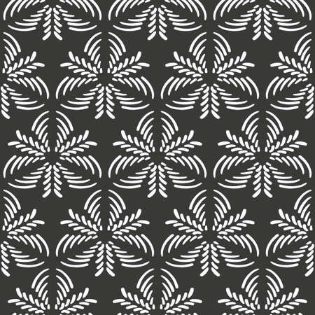 Abstract seamless pattern for textile design and interior design.
