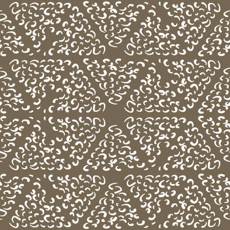 A seamless pattern with white curls on a white background.