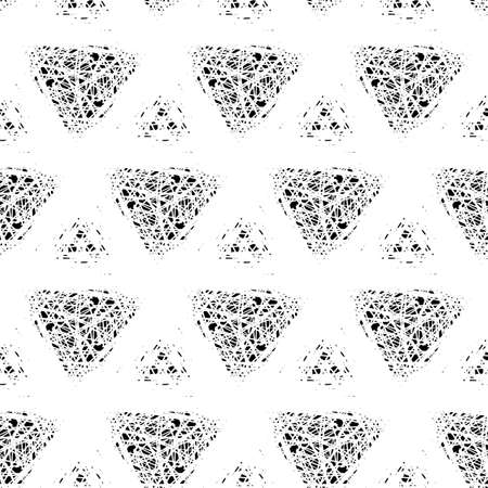 Abstract seamless pattern of simple lines and forms.